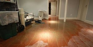 Flooded Downstairs After A Pipe Burst